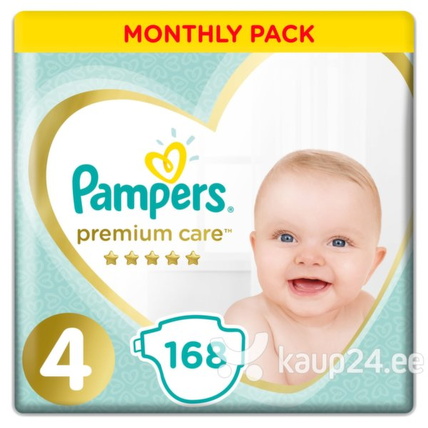 Mähkmed PAMPERS Premium Monthly Box suurus 4 168 tk