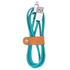 Kaabel USB Maoxin Leather Data Line Lightning MD818ZM/A, 2.4A, 1m, Blue