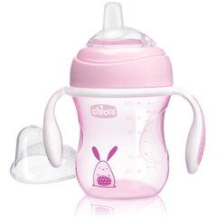 Joogipudel silikoonist tilaga Chicco, 4 kuud, 200 ml, pink