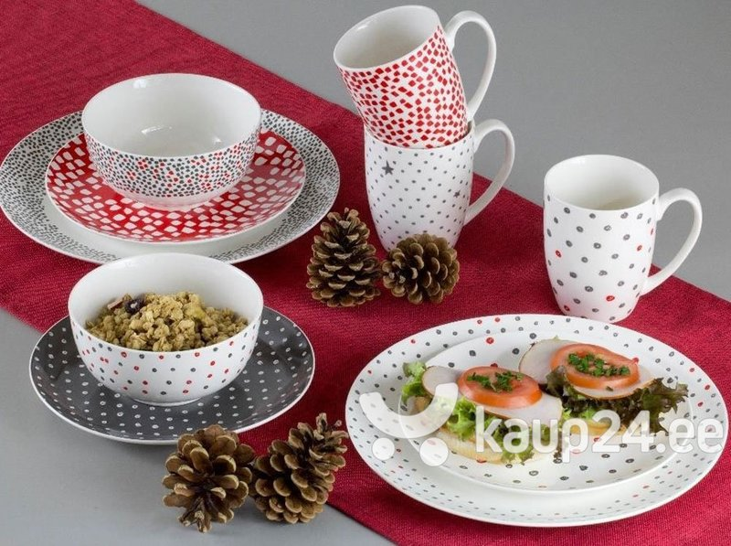 Salatikauss Ambition Poppy Grey-Red, ruuduline, 13 cm интернет-магазин