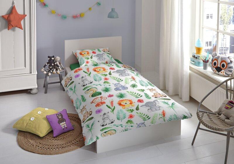 Laste voodipesukomplekt 2-osaline GOOD MORNING Zoo, 140x200 cm hind