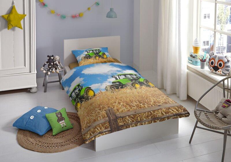 Laste voodipesukomplekt 2-osaline GOOD MORNING Farmer, 135x200 cm hind
