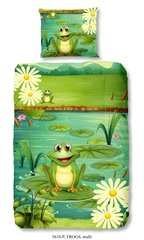 Laste voodipesukomplekt 2-osaline GOOD MORNING Frogs, 140x200 cm