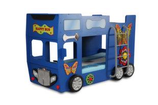Narivoodi koos madratsiga Happy Bus, sinine