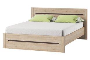 Кровать Desjo 53, 160x200 cm, коричневый цена и информация | Кровати | kaup24.ee