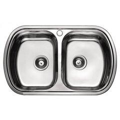 Roostevabast terasest valamu 7702D цена и информация | Кухонные мойки | kaup24.ee
