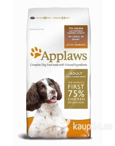 Kuivtoit koertele Applaws Adult Small & Medium, kanalihaga, 7.5 kg