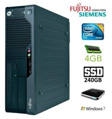 Lauaarvuti Fujitsu Siemens E7935 SFF E7300 4GB 240SSD+1TB DVD Win7Pro