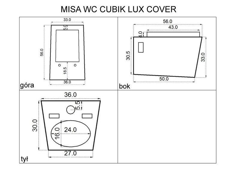 Klosett Rea Cubik Lux Cover tagasiside