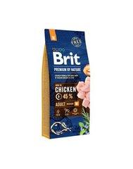 Kuivtoit koertele Brit Premium keskmistest tõugudest koertele, 15 kg