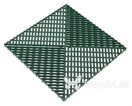 Plastikust serv 52x52cm, roheline