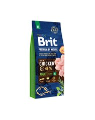 BRIT Premium By Nature Adult Extra Large XL, 15 кг цена и информация |  Сухой корм для собак | kaup24.ee