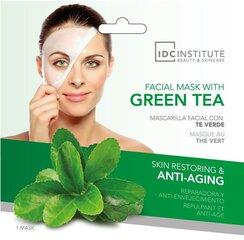 Taastav ja kortsudevastane kooriv mask rohelise teega IDC Institute 22 g