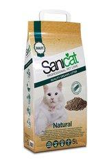 Kassiliiv SANICAT Natural, ei paaku, puidu saepuru, 5 l