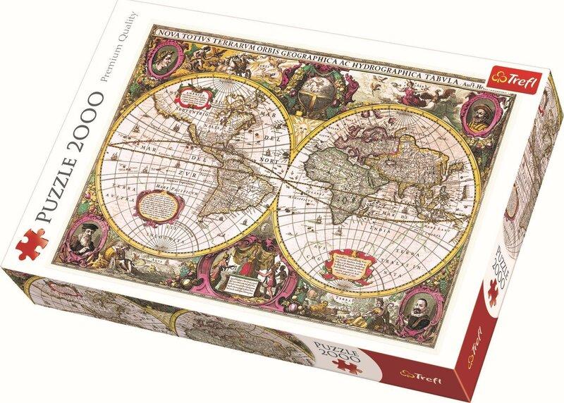 Pusle Trefl Maailma kaart, 2000-osaline