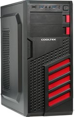 Cooltek KX Red Midi-Tower, juodai-raudonas (600046385)