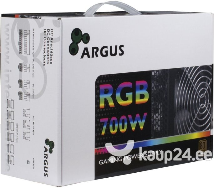 Inter-Tech Argus RGB-700W (88882167) цена