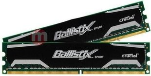 Ballistix 8GB (2x4GB) DDR3 1600MHz CL9 Unbuffered NON-ECC 1.5V (BLS2CP4G3D1609DS1S00CEU)