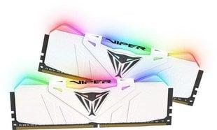 Patriot VIPER RGB DDR4 16GB DUAL KIT (2x8GB) 2666MHz CL15 White Radiator (PVR416G266C5KW) hind ja info | Operatiivmälu (RAM) | kaup24.ee