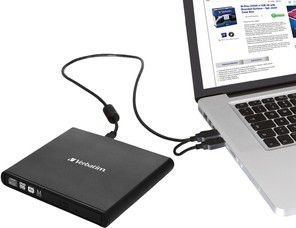Verbatim External Slimline CD/DVD Writer USB 2.0 (98938)