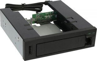 "InLine HDD Caddy Hot Swap Case 5.25"" for SATA HDD (37556) hind ja info 