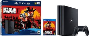 Mängukonsool Sony PlayStation 4 (PS4) Pro, 1 TB + Red Dead Redemtion 2