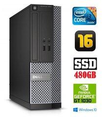 Dell 3020 SFF i3-4130 16GB 480SSD GT1030 2GB DVDRW WIN10Pro цена и информация | Dell 3020 SFF i3-4130 16GB 480SSD GT1030 2GB DVDRW WIN10Pro | kaup24.ee