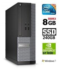 Dell 3020 SFF i3-4130 8GB 240SSD GT1030 2GB DVDRW WIN7Pro