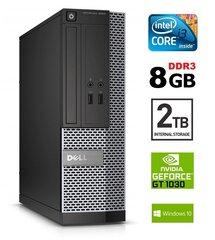 Dell 3020 SFF i3-4130 8GB 2TB GT1030 2GB DVDRW WIN10Pro