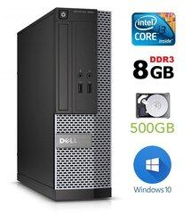 Lauaarvuti Dell 3020 SFF i3-4130 8GB 500GB DVDRW WIN10Pro hind ja info | Lauaarvutid | kaup24.ee