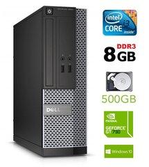 Lauaarvuti Dell 3020 SFF i3-4130 8GB 500GB GT730 2GB DVDRW WIN10Pro