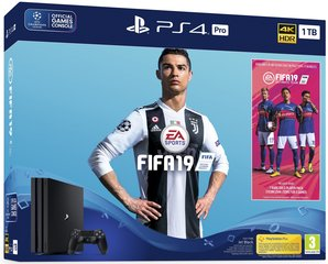 Sony PlayStation 4 (PS4) Pro, 1 TB + Fifa 19