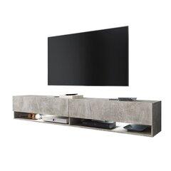 TV laud Wander LED 180 cm, hall hind ja info | TV alused | kaup24.ee
