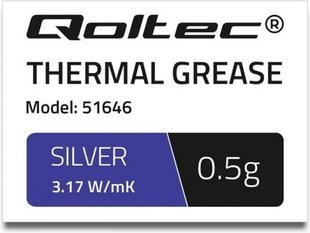 Qoltec Thermal grease 3.17 W / m-K | 0.5g Silver (51646)
