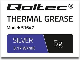 Qoltec Thermal grease 3.17 W / m-K | 5g | Silver (51647)