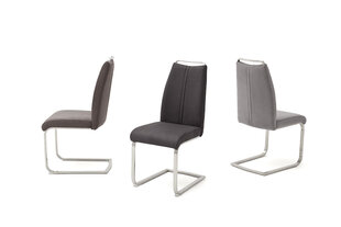 2 tooli komplekt Giulia A, tumehall hind ja info | Söögitoolid, köögitoolid | kaup24.ee
