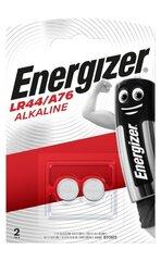Patarei ENERGIZER LR44/A76 B2 1.5V Alkaline 2tk цена и информация | Patarei ENERGIZER LR44/A76 B2 1.5V Alkaline 2tk | kaup24.ee