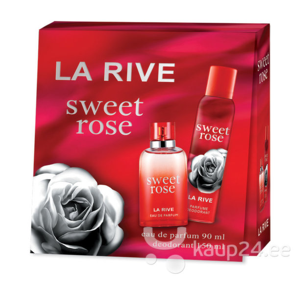 Komplekt La Rive Sweet Rose: EDP naistele 90 ml + spreideodorant 150 ml