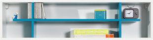 Seinale kinnitatav riiul Mobi 15, valge/sinine hind ja info | Lastetoa riiulid | kaup24.ee