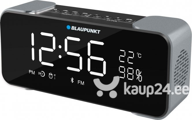 Kaasaskantav kõlar Blaupunkt BT16CLOCK Bluetooth, must/hall