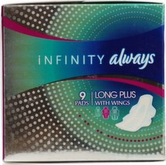 Hügieenisidemed Always Infinity Long Plus 9 tk