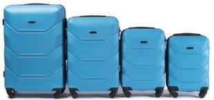 4-osaline kohvrite komplekt Wings 147-4, sinine hind ja info | 4-osaline kohvrite komplekt Wings 147-4, sinine | kaup24.ee