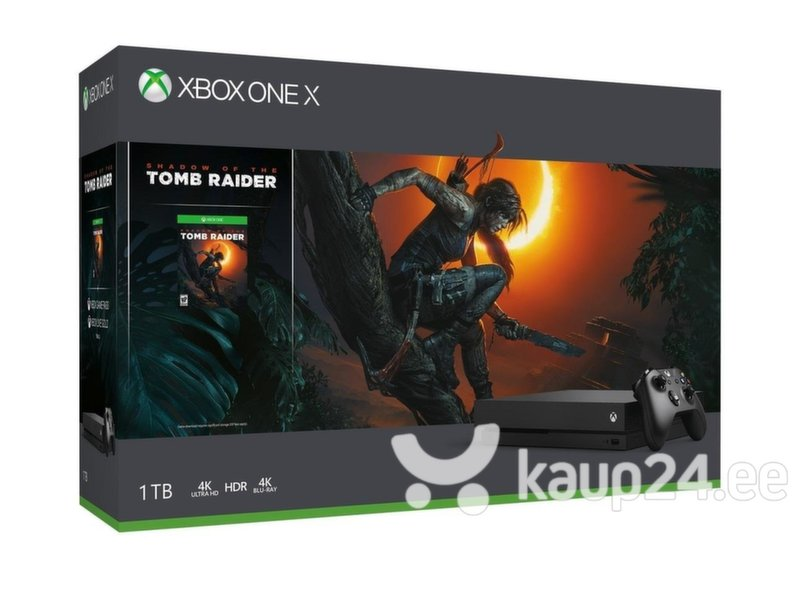 Microsoft Xbox One X 1TB + mäng Shadow of the Tomb Raider hind
