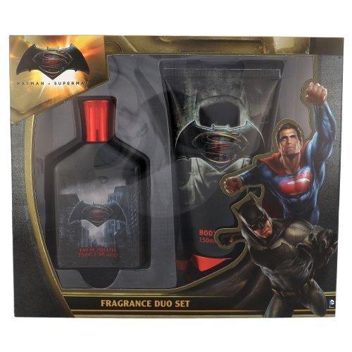 DC Comics komplekt: parfüümvesi 75 ml + dušigeel 150 ml Batman v Superman 75 ml