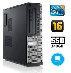 DELL 7010 DT i3-3220 16GB 240SSD DVD WIN10Pro цена и информация | DELL 7010 DT i3-3220 16GB 240SSD DVD WIN10Pro | kaup24.ee