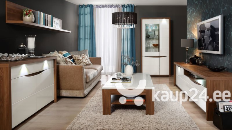 TV laud Saint Tropez STZT131B, valge/pruun tagasiside