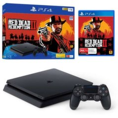 Sony Playstation 4 (PS4) Slim 1 TB + Red Dead Redemtion 2 + 2 pulti