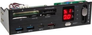 SilverStone Front Panel with card reader, USB ports, Display (SST-FP59)