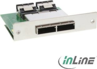 InLine Dual SAS Adapter, 2x ext. SFF-8088, 2x int. SFF-8087 (27650E)