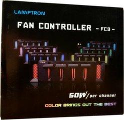 "Lamptron Fan controller FC9 5.25"" Silver (LAMP-FC0121S)"